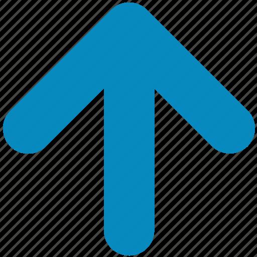 above, arrow, direction, pointer, up, upload, upward icon