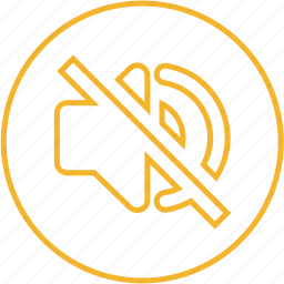 audio, mute, off, slient, sound, speaker, volume icon