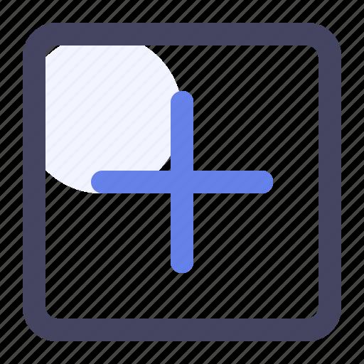 add, create, new, plus, square icon