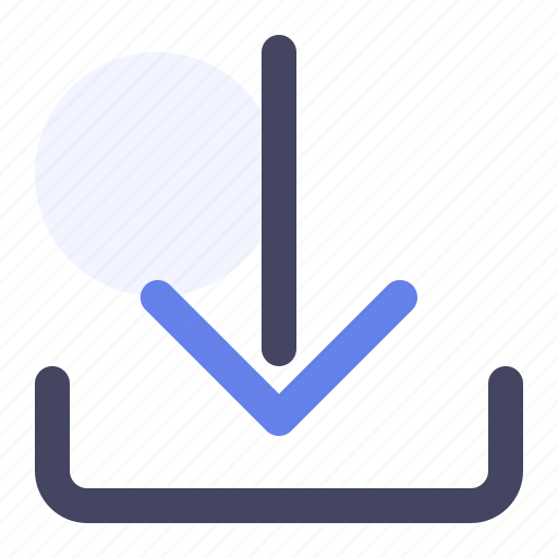 arrow, arrow down, down, download, save icon