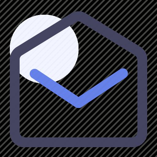 envelope, envelope open, inbox, letter, mail, mail open, open icon