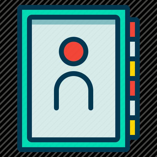 book, contact, friendlist, journal icon