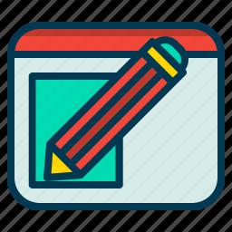edit, pencil, retouch, text icon