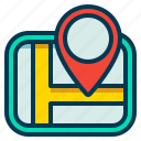 gps, location, map, navigation, road icon