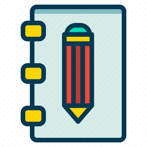 Editor, notebook, pencil, text icon - Download on Iconfinder