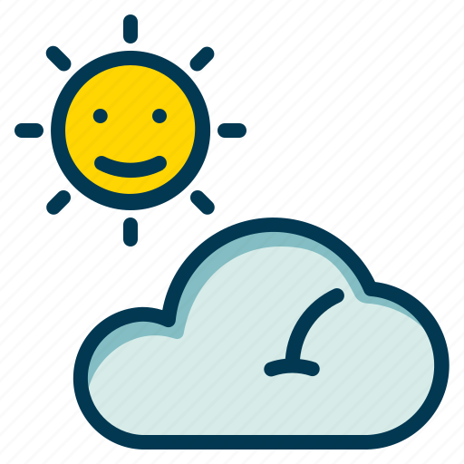Cloud, forecast, sun, weather icon - Download on Iconfinder
