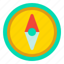 arrow, compass, direction, map icon