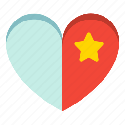 collection, favorite, heart, star icon