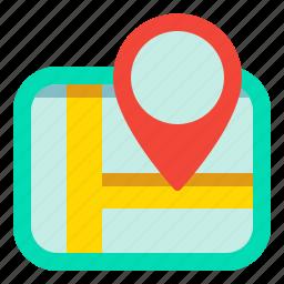 gps, location, map, navigation, road icon