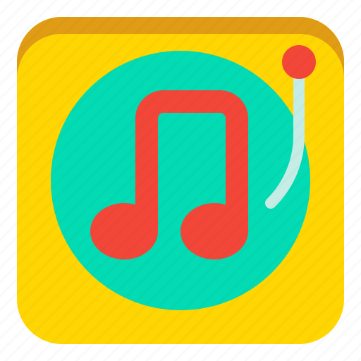 Music, note, turntable, vynil icon - Download on Iconfinder