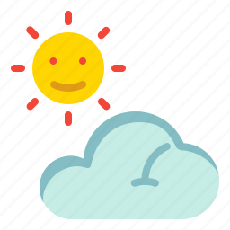 cloud, forecast, sun, weather icon