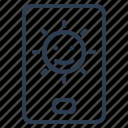 brightness, indicator, light, screen icon