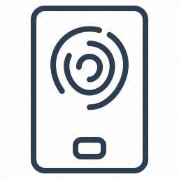 finger, print, security, sensor icon