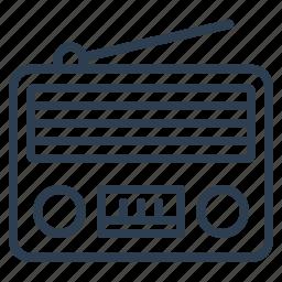 music, news, radio, retro icon