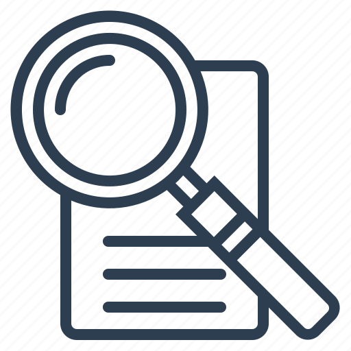 document, find, magnifier, search icon