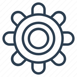 adjusment, gear, personalization, setting icon