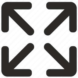 arrow, full, screen, size icon