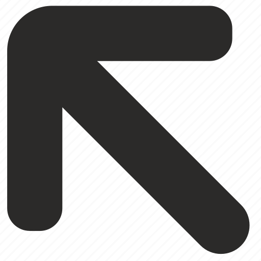 arrow, left, top icon