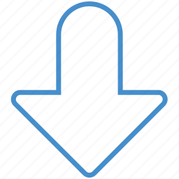 arrow, bottom, direction, down, download, downward, save icon