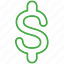 bill, cash, currency, dollar, finance, money icon