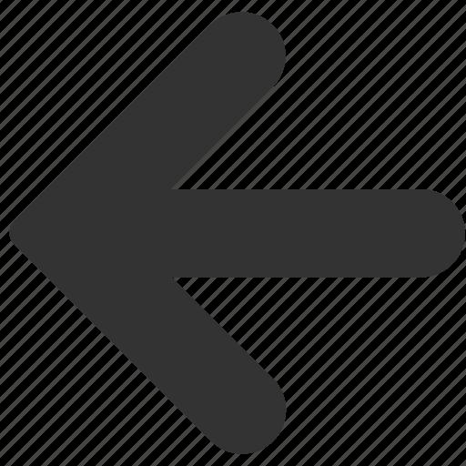 arrow, back, backward, direction, east, left, previous icon