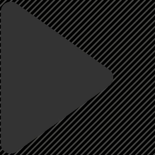 arrow, go, play, right, run, start, video icon