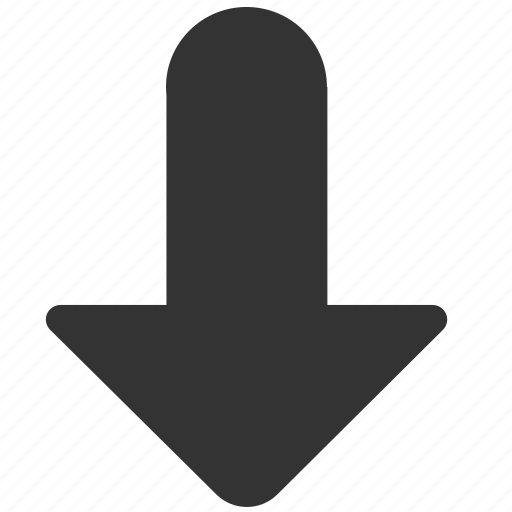 arrow, bottom, direction, down, download, downward, south icon