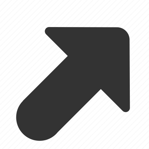 Arrow, outgoing, arrows, direction, right, top, up right icon - Download on Iconfinder