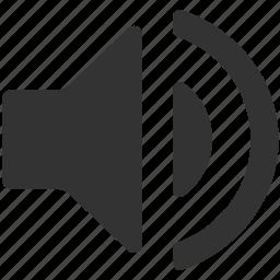 full, high, loud, music, sound, speaker, volume icon