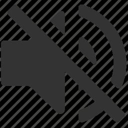 control, music, mute, sound, speaker, volume off icon