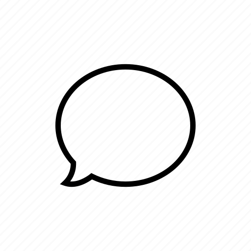 bubble, chat, conversation, dialogue, message, roundedsolid icon