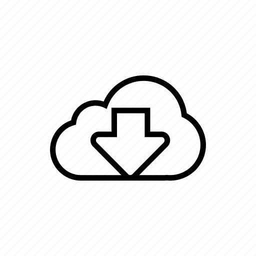 cloud, download, icloud, roundedsolid, store icon