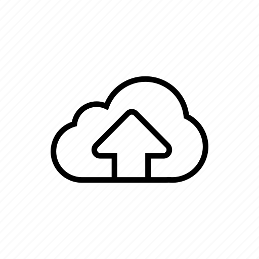 cloud, icloud, roundedsolid, store, upload icon