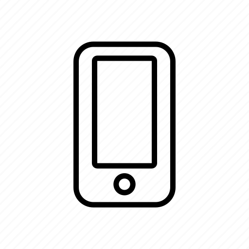 device, mobile phone, mobilephone, roundedsolid, smartphone icon