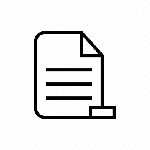 deleteinfo, detail, document, information, remove information, roundedsolid icon