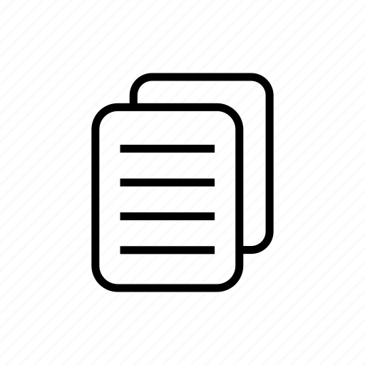 document, documents, file, letter, note, paper, roundedsolid icon