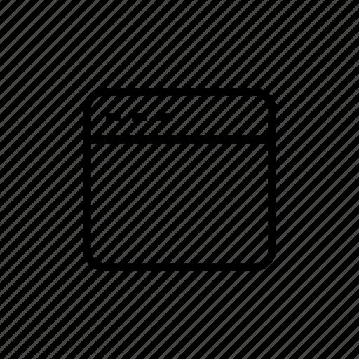interface, roundedsolid, ui, uiux, web, window icon