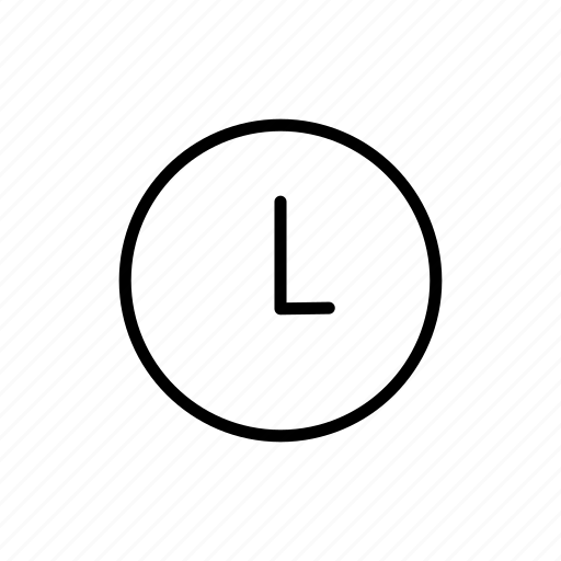 clock, roundedsolid, time, timer icon