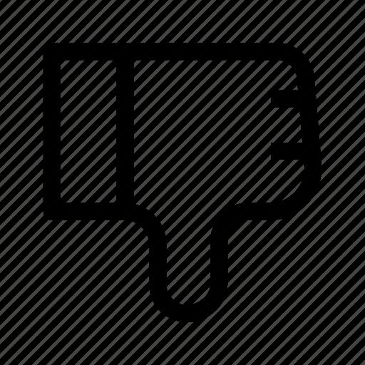 dislike, hand sign, ui, unlike, ux icon