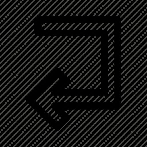 arrow, left, ui, ux icon