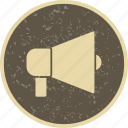 advertising, announcement, loud speaker icon