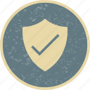 badge, shield, valid icon