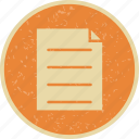 document, report, sheet, task icon