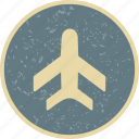 aeroplane, airplane, airport, flight icon