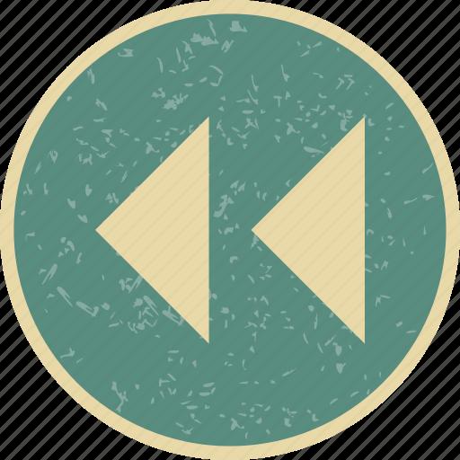 back arrows, backward arrows, rewind icon