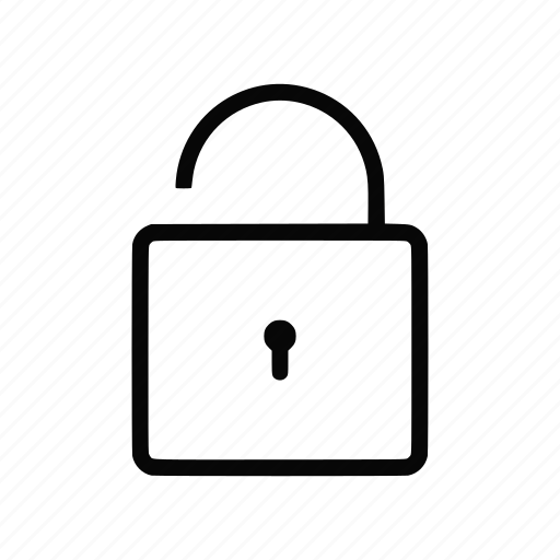 padlock, privacy, protect, protection, safety, secure, unlocked icon