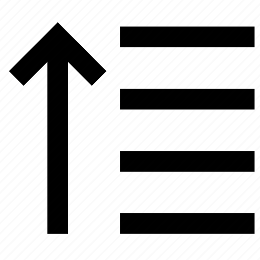align, alignment, arrow, paragraph, right, up icon