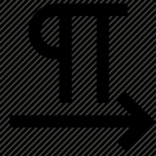 alignment, arrow, move, paragraph, right, text icon