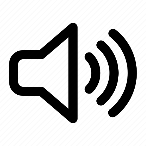 audio, connection, media, music, social, sound, speaker icon