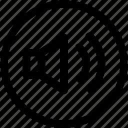 mute, off, on, sound, track, volume icon